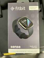 New Sealed Fitbit Sense Activity Tracker Carbon Graphite Stainless Steel