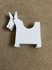 DONKEY SHAPE NOTE HOLDER - WHITE - NEW