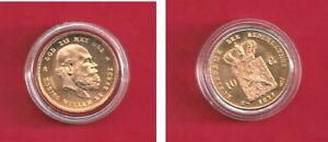 10 Gulden Goldmünze Niederlande, König Wilhelm, vorzüglich, 1877