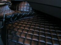 TRUCK Floor Mats LHD For VOLVO FH 4 AUTOMAT AFTER 2014 BLACK Eco Leather