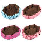 Small Soft Fleece Pet Dog Puppy Cat Warm Bed House Plush Cozy Nest Mat Pad Split
