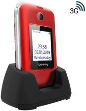 Téléphone Portable Senior Clapet 3G Grandes Débloqué Grosses Touches Basique