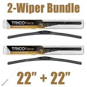 "2-Wipers: 22"" + 22"" Trico Force All-Season Beam Wiper Blades 25-220 x2"