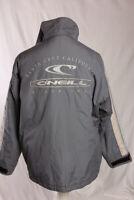 O'Neill Santa Cruz California Vintage Coat UK Size M-L Grey Quilt Lined VGC!