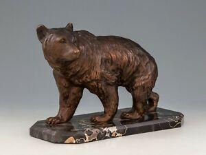 Antique Viennese Bronze - Bear - Marble Mount