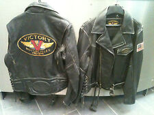 Victory - Classic Brown Leather Jacket...NOS...Ladies Large only