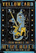 Yellowcard Acceptance Rare Original Punk Fox Theatr Concert Poster 2005 Grealish