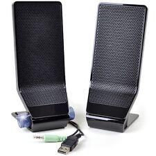 Acer MS1238US 2-Piece USB Powered PC Speaker Set w/3.5mm Jack (Black)--Brand NEW