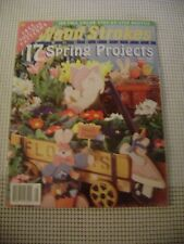 DIY Wood Strokes Spring Projects Magazine 1999. #34 PB cow rabbit + pattern vtg