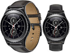 NEW SAMSUNG GALAXY GEAR S2 CLASSIC BLACK SM-R735 SMART WATCH BLUETOOTH Wi-Fi
