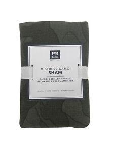 Pottery Barn Dorm Distress Camo Sham Moss Green Standard Pillow Case