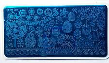 Nail Art Stamping Happy Easter Celebration Pattern Manicure Image Plate L033