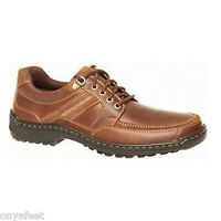 Mens HUSH PUPPIES ALBATROSS Brown FORMAL/DRESS/WORK/CASUAL/LEATHER SHOES -WIDE