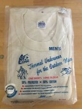 Nos Vintage Mens Thermal Underwear for the Outdoor Man Made in Usa