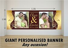 Personalised GIANT Large Congratulations Wedding Engagement Mr & Mrs Banner N77