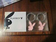 Playboy Pink  Bunny Shower Curtain Hooks Rings, Set of 12 New