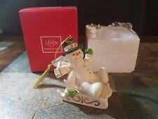 Lenox 2015 Snowy Sleigh Ride Snowman Ornament