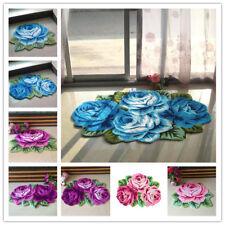 3D Rose Area Rugs Anti-Slip Bedroom Dining/Living Room Carpet Modern Handmade us