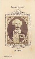 Dennery Ritratto Figaro-Album Carte de visite Albumina Verso 1875