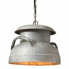 Farmhouse Milkcan Pendant Light in Weathered Zinc