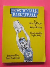HOW TO TALK BASKETBALL softcover book WILT CHAMBERLAIN 1983