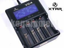XTAR VC4 LCD Screen USB Battery Charger 18650 26650 32650 14500 AA AAA Battery