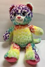 "BUILD A BEAR Lisa Frank Leopard Cat Cheetah Rainbow Plush 16"" Stuffed Animal"
