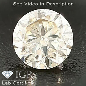 0.30 cts. CERTIFIED Round Cut SI2 Sparkly Off White Loose Natural Diamond 24458