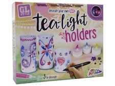 Decorar Su Propio sostenedores de vela ligera del té Luces de Jardín Niños Conjunto de arte y artesanía