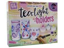 Abbellire il proprio portacandele tea light giardino luci Kids Art & Craft Set