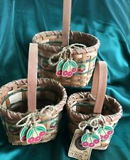 Boyds Collection - Set Of 3 Baskets - Kay'S Sm Beary Cherry Basket