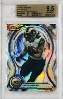 TODD GURLEY 2015 TOPPS FINEST ATOMIC ROOKIES REFRACTOR CARD BCCG GRADED 9.5 RAMS