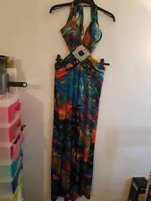 F & GIRL Maxikleid Maxi Dress - Blue/Multi - UK S/10