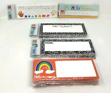 School Classroom Name Cards/Plates- Rainbow, Spanish, Alphabet & More - 14 Packs