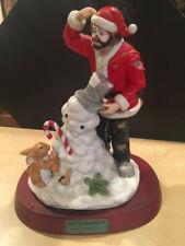 Emmett Kelly Flambro Limited Ed Spirit Of Christmas Ix Santa Clown & Snowman