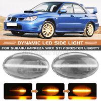 For Subaru Impreza WRX STI 2002-2007 LED Side Light Turn Signal Indicator Clear