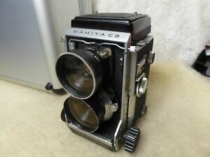 MINT Mamiya C3 TLR 6X6 Medium Format Camera with Case and used 65mm Lens.