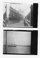 1926 SS Tenyo Maru Ship off San Francisco, 2 Original Antique Photos