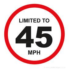20 x limitato a 45 MPH veicolo limitazione della velocità PARAURTI stampato AUTO FURGONE ADESIVI