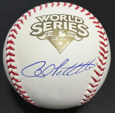 Andy Pettitte Signed 2009 World Series Baseball Autograph MLB Holo Steiner COA