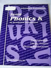 Saxon Phonics K Literature Extensions