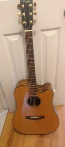 2003 Korea Fender acoustic electric guitar GD-47SCE Nat natural wood Gator case