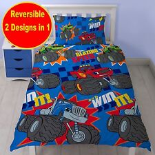 BLAZE AND THE MONSTER MACHINES SINGLE DUVET QUILT COVER SET BOYS KIDS BEDROOM