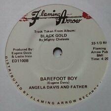 "Funk 70s Soul 70s Soul 7""-Angela Davis And Father-Barefoot Boy/Black Gold-Flamin"