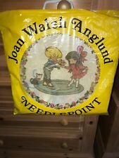 New 1973 Vintage Joan Walsh Anglund Boy Giving Flowers To Girl Needlepoint Kit *