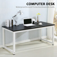 Wood Computer Desk PC Laptop Table Workstation Study Home Office Furniture Black