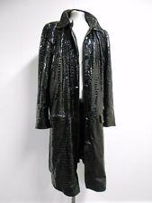 Moschino Cheap & Chic vintage 90's coat black croc patent effect IT52 UK22