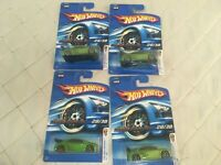 Hot Wheels 2006 First Editions Honda Civic Si green Lot of 4 New