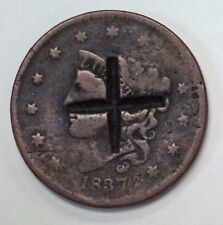 {BJSTAMPS}  1837 Large Cent with Counterstamp  +  Cross?