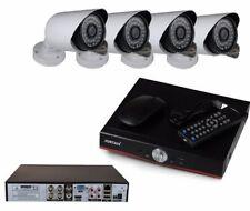 KIT VIDEOSORVEGLIANZA AHD DVR 4 CANALI 4 TELECAMERE HD INFRAROSSI P2P